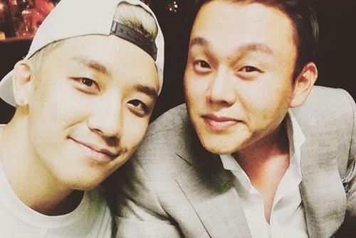 Seungri và CEO Yoo In Suk.