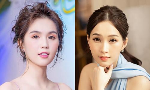 Ngọc Trinh (trái) và Hoa hậu Việt Nam 2012 - Đặng Thu Thảo.