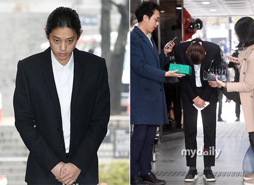 Jung Joon Young xuất hiện ở tòa án sáng nay.