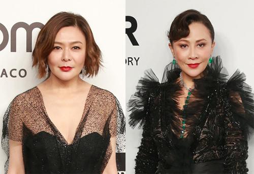 Hai diễn viên Quan Chi Lâm (trái) và Lưu Gia Linh.