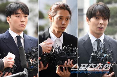 Từ trái sang: Seungri, Jung Joon Young và Choi Jong Hoon.