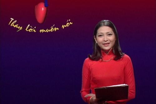 Quỳnh Hương trong số phát sóng đầu tiên của chương trình vào năm 2000.