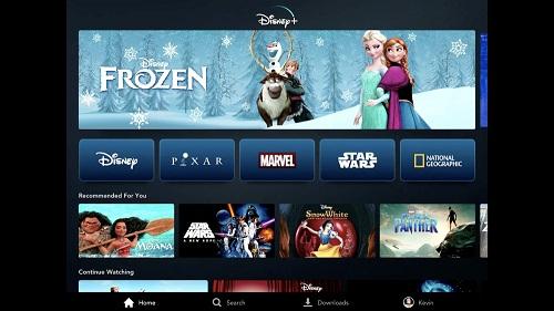 Giao diện ứng dụng Disney+. Ảnh: Variety.
