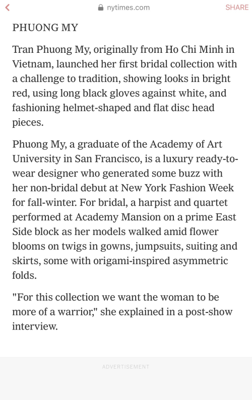 Bộ sưu tập đầm cưới của NTK Việt Nam xuất hiện trên báo Mỹ - ảnh 3