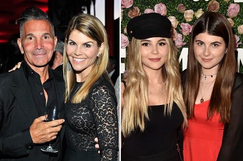 Diễn viên Lori Loughlin cùng chồng (trái) và hai con gái. Ảnh: PageSix.