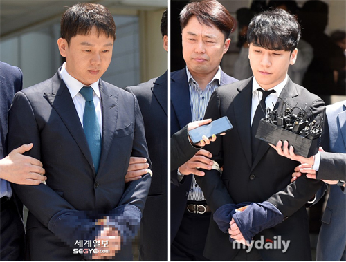 Seungri (trái) và bạn của anh - doanh nhân Yoo In Suk.