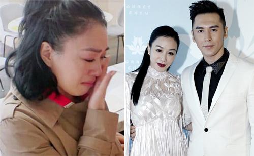 Chung Lệ Đề khóc vì mâu thuẫn với chồng trong show thực tế.
