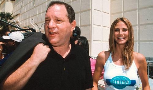 Harvey Weinstein và người mẫu Heidi Klum ở LHP Cannes năm 2000. Ảnh: Hollywood Reporter.
