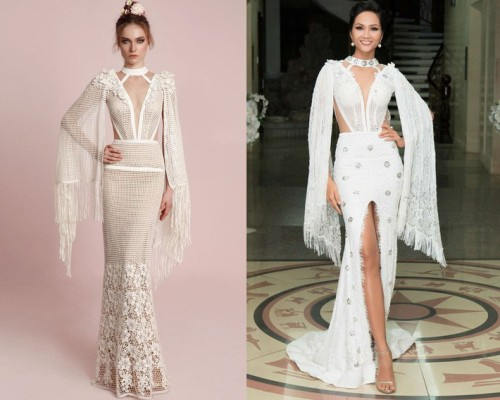 HHen Niê bị thương hiệu váy cưới nổi tiếng tố cáo mặc váy nhái.
