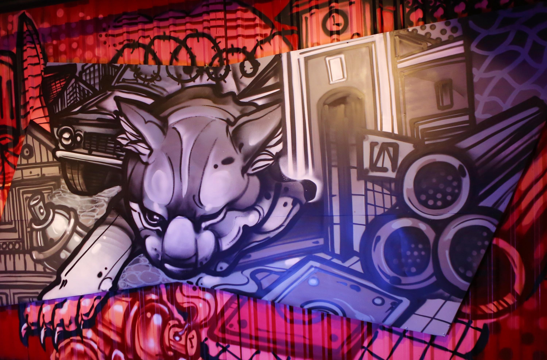 Điểm nhấn của sự kiện tôn vinh thời trang đường phố, Graffiti, EDM