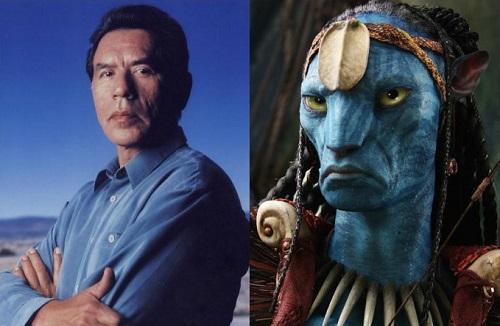 Wes Studi và nhân vật của ông trong Avatar.
