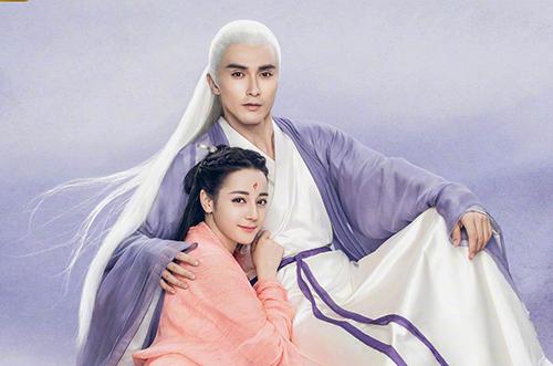 Cao Vỹ Quang và Địch Lệ Nhiệt Ba trong Tam sinh tam thế chẩm thượng thư.