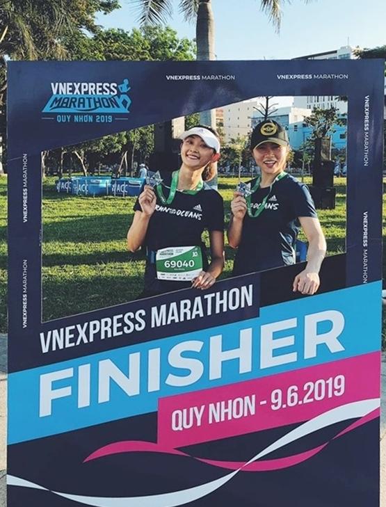 Các hoa hậu trên đường chạy VnExpress Marathon