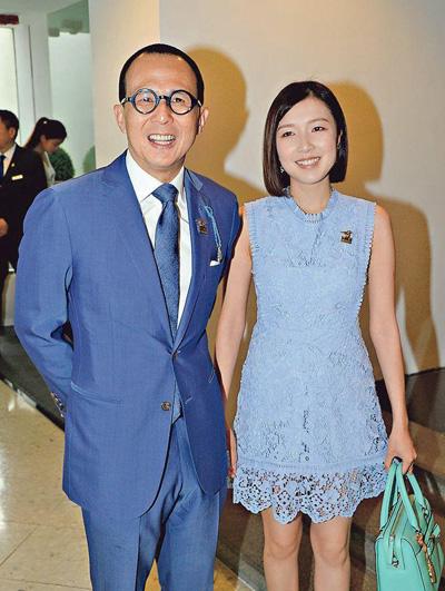Gia Văn và bạn trai tại sự kiện hồi tháng 4. Ảnh: Mingpao.