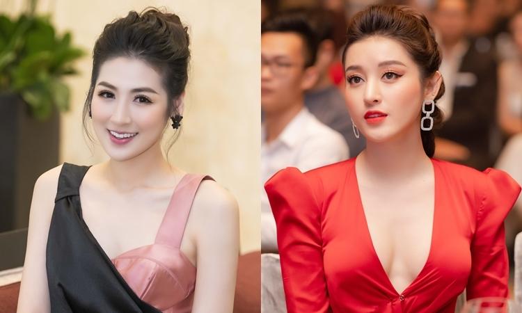 Huyền My, Tú Anh diện đầm tôn vòng một đi sự kiện - VnExpress Giải Trí
