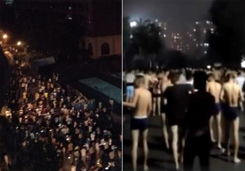 Người dân tại các thành phố chịu ảnh hưởng của động đất tháo chạy khỏi nhà trong đêm, trong đó nhiều người không kịp mặc quần áo.