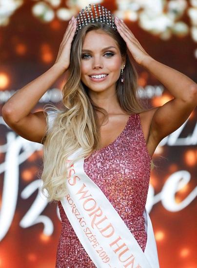 Người đẹp 22 tuổi đăng quang Hoa hậu Thế giới Hungary - ảnh 1