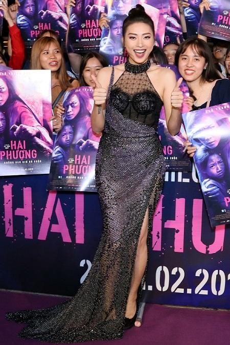 Ngô Thanh Vân ở buổi công chiếu Hai Phượng.