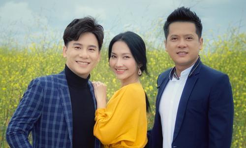 Từ trái sang: Ca sĩ Ngọc Châu, diễn viên Kim Hiền, diễn viên Hoàng Anh.