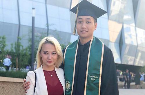 Ca sĩ Xuân Nghi và bạn trai.