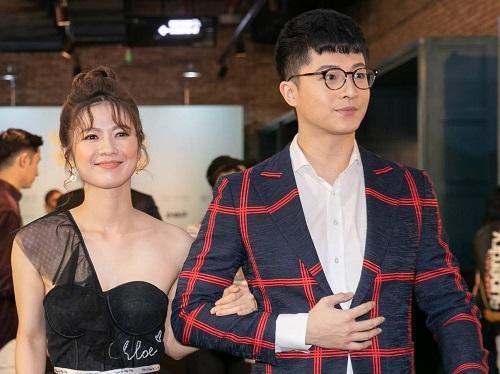 Harry Lu và nữ chính Oanh Kiều ở buổi ra mắt Thật tuyệt vời khi ở bên em.