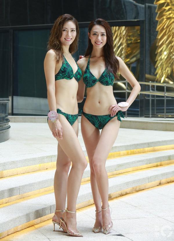 Thí sinh Hoa hậu Hong Kong trình diễn bikini