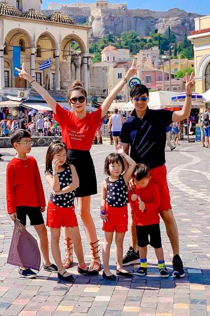 Lý Hải - Minh Hà và bốn con du lịch Âu, Mỹ dịp hè - ảnh 4