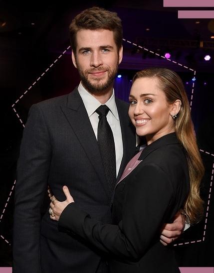 Liam Hemsworth và Miley Cyrus. Ảnh: Refinery29.