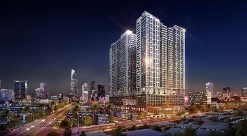 The Grand Manhattan gồm ba tòa tháp căn hộ cao 39 tầng và 4 tầng hầm tọa lạc trên diện tích 14.000 m2