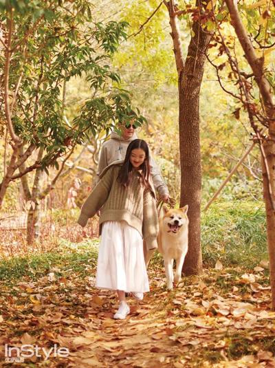 Lý Á Bằng, Lý Yên và thú cưng của gia đình.