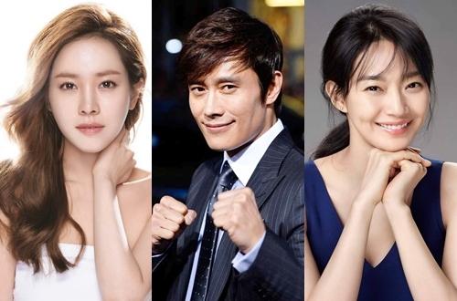Từ trái qua: diễn viên Han Ji Min, Lee Byung Hun và Shin Min Ah.