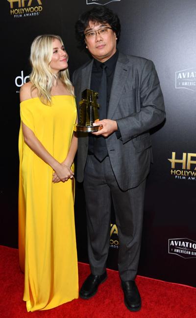 Đạo diễn Bong Joon-Ho trở thành người châu Á đầu tiên đoạt giải tại Hollywood Film Award, sự kiện điện ảnh tiền Oscar 2020.