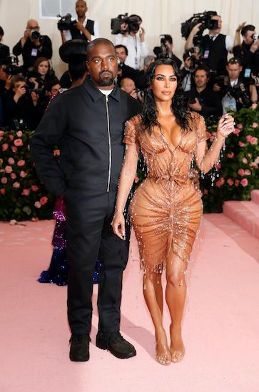 Kanye West và Kim Kardashian tại sự kiện Met Gala hồi tháng 5. Ảnh: Reuters.