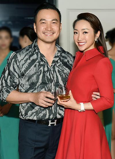 Chi Bảo và bạn gái Thùy Chang trong một sự kiện cuối tháng 11. Ảnh: C.B.