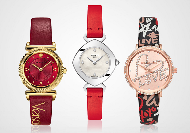 Màu đỏ đại diện cho sự quyến rũ và nổi bật, là một trong số những gam màu được ưa chuộng. Điểm nhấn trên mẫu đồng hồ đỏ thường là những viên kim cương hay pha lê, đá quý lấp lánh. Một số mẫu đồng hồ đỏ có bán tại Luxury Shopping với giá 6-30 triệu đồng.