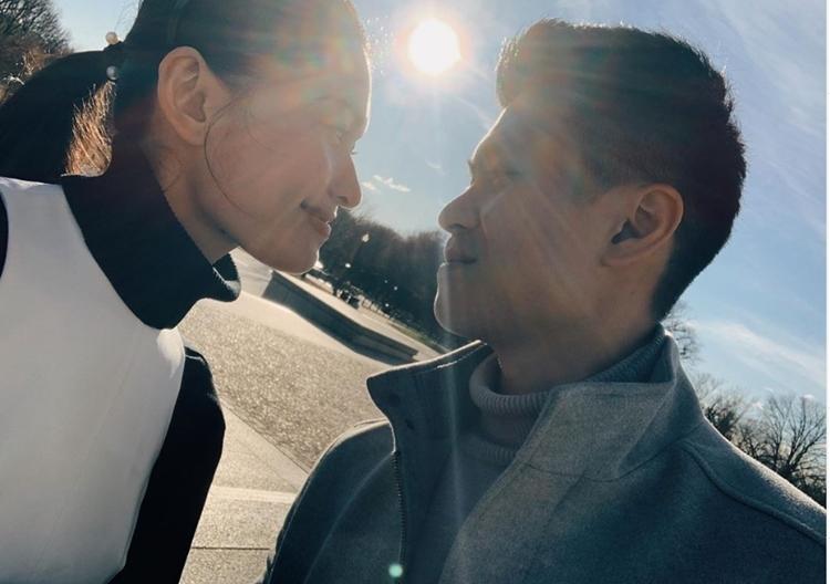 Á hậu Thùy Dung cùng bạn trai du lịch ở Mỹ - ảnh 1