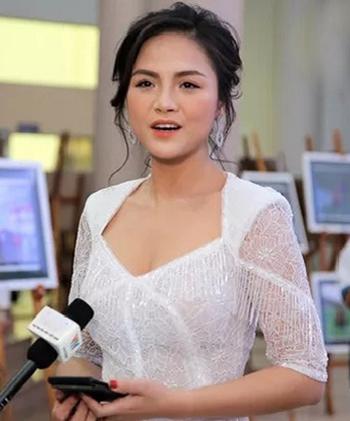 Diễn viên Thu Quỳnh tại sự kiện tối 14/12. Ảnh: VTV.