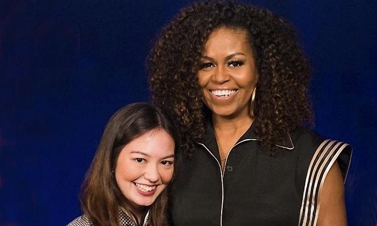 Michelle Obama mặc thiết kế mới của Công Trí - VnExpress Giải Trí