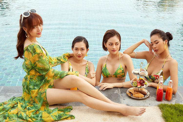 Dàn diễn viên 'Gái già lắm chiêu 3' diện bikini