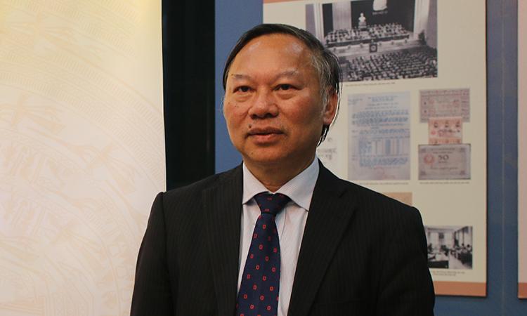 Giáo sư, Tiến sĩ, Nhà giáo Nhân Dân Nguyễn Quang Ngọc - đại diện của bộ sáchVùng đất Nam Bộ - Quá trình hình thành và phát triển. Ảnh: Hoàng Huế.
