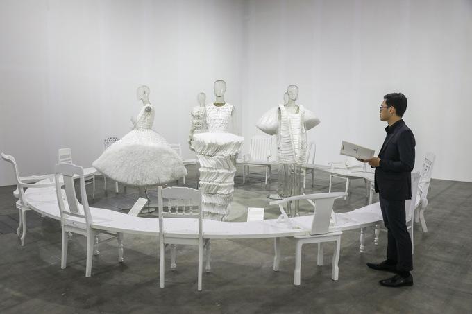 Không gian nghệ thuật trong triển lãm Công Trí