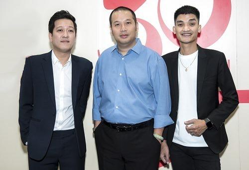 Từ trái sang: diễn viên Trường Giang, đạo diễn Quang Huy, diễn viên Mạc Văn Khoa. Ảnh: CGV.