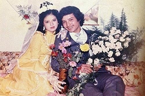 Chí Trung - Ngọc Huyền trong ảnh cưới năm 1986. Ảnh: CT.