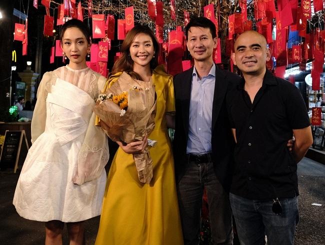 Từ trái sang: ca sĩ Juky San, diễn viên Khả Ngân, đạo diễn Quang Bình, nhạc sĩ Đức Trí. Ảnh: BHD.