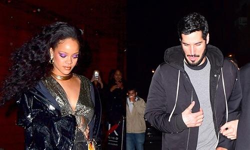 Rihanna và bạn trai Hansan Jameel đi chơi tại thành phố New York hồi tháng 4/2019. Ảnh: Hollywood Life.