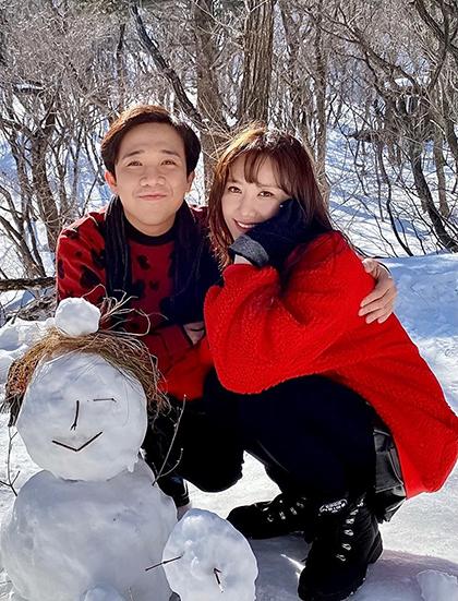 Hari Won cùng chồng - Trấn Thành mừng sinh nhật. Ảnh: H.W.