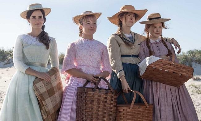 Từ trái sang: Emma Watson, Florence Pugh, Saoirse Ronan và Eliza Scanlen trong phim. Ảnh: Sony.